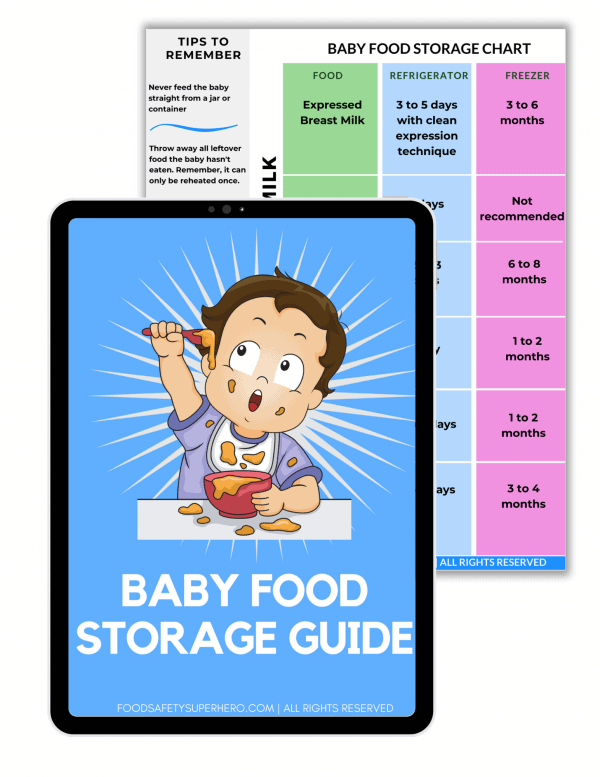 baby food storage guide