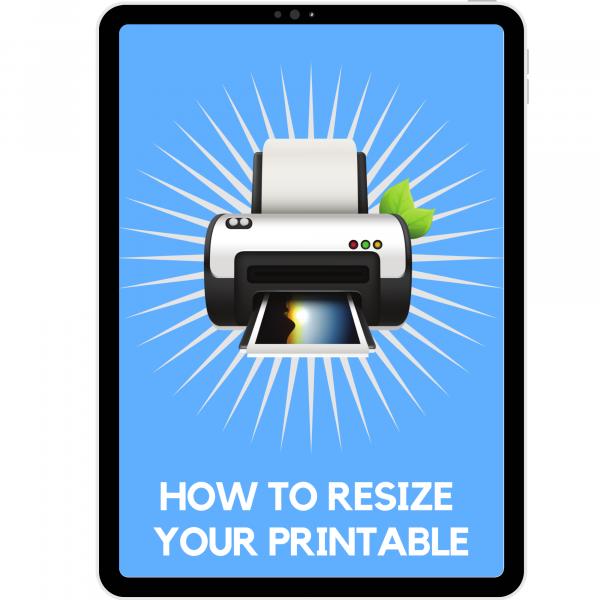 resize printable