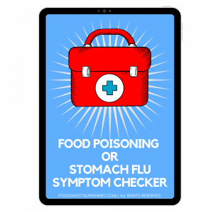how to tell the difference between food poisoning and stomach flu